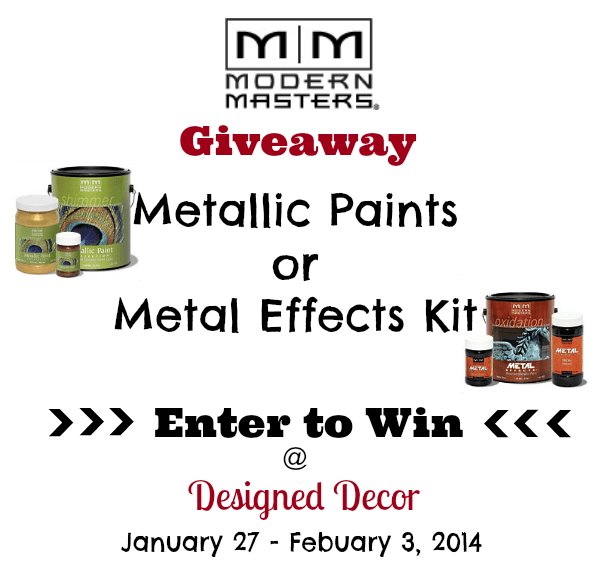 Modern Masters Metallic Paint Giveaway