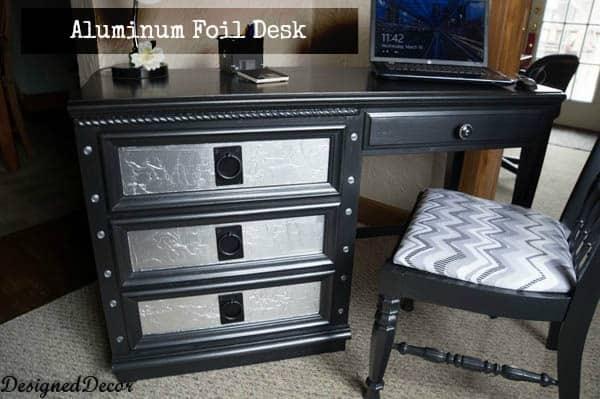 Aluminum Foil Desk -