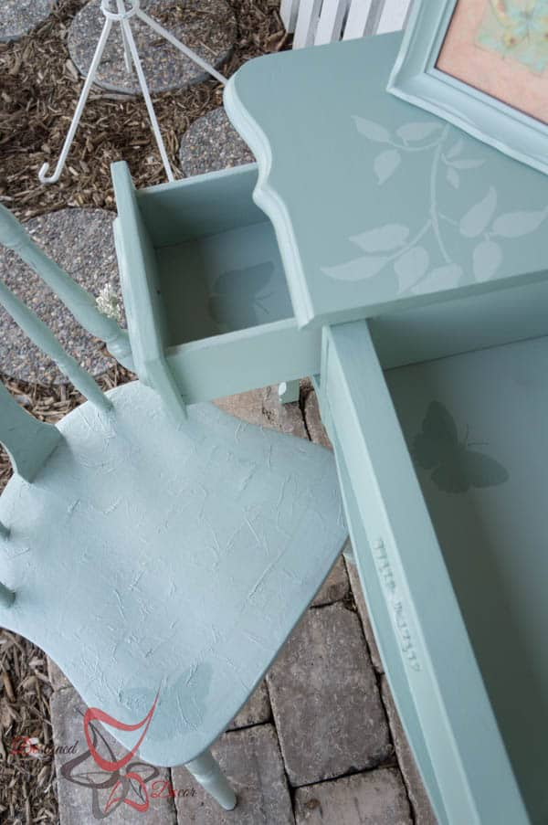 Stenciled Vanity - Tissue Paper Chair-21