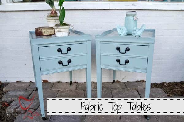 Leather Top Side Table - Fabric Accent Tables