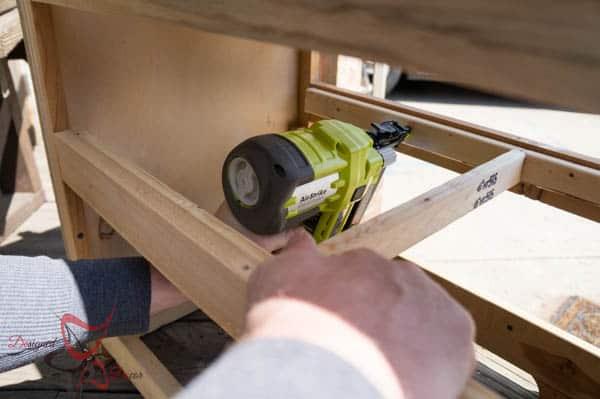 Adding shelving to a dresser