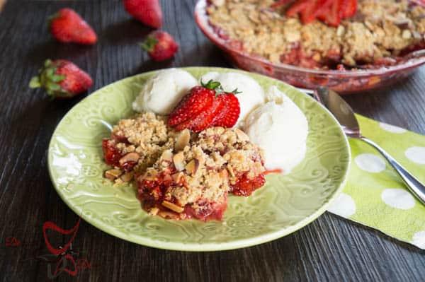 Strawberry Crumb Dessert-8