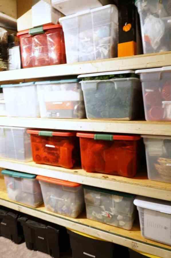 Basement Storage Shelves
