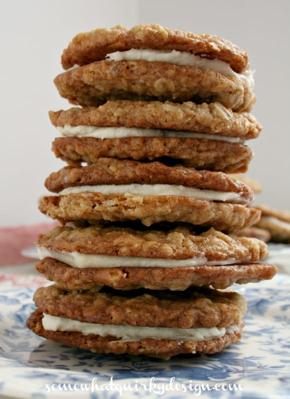 Homemade Little Debbies Oatmeal Cookies Sandwiches-Holiday Cookie Round-up
