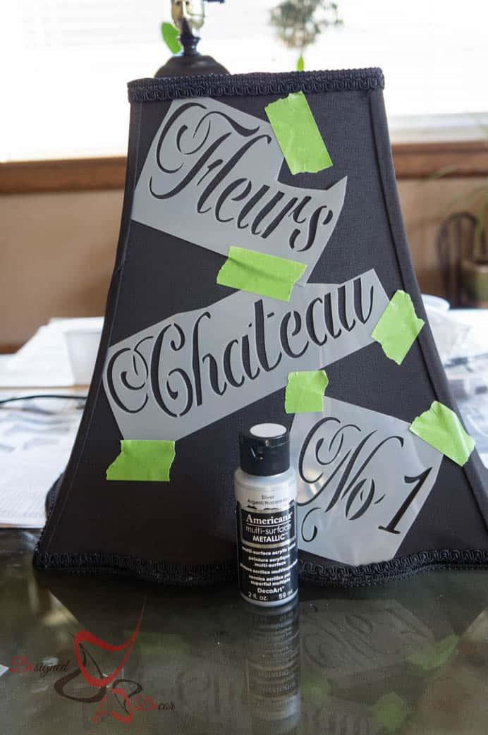 Lamp Makeover with French Stencils - Americana Multi Surface Paint-