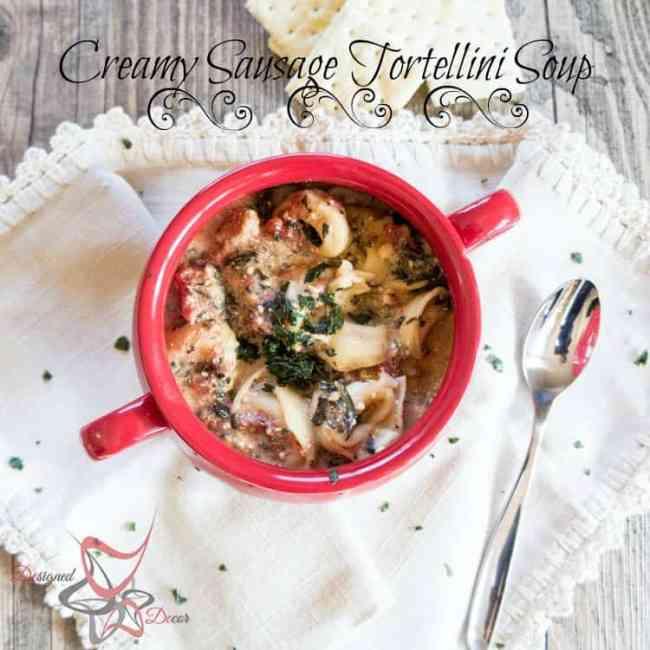 Crockpot Creamy Sausage Tortellini Soup
