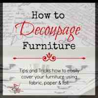How to Decoupage Furniture!