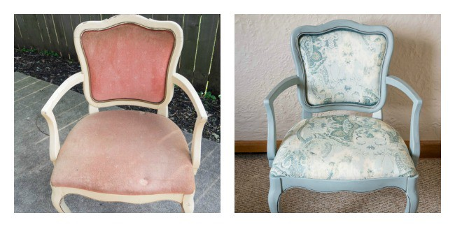 How to Upholster Chairs - Before-After