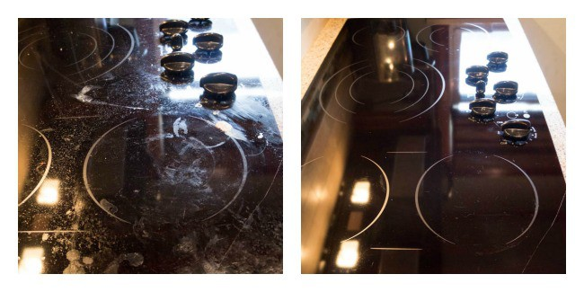 deep cleaning the kitchen- chemical free cleaning- ecloth-stove top cleaning