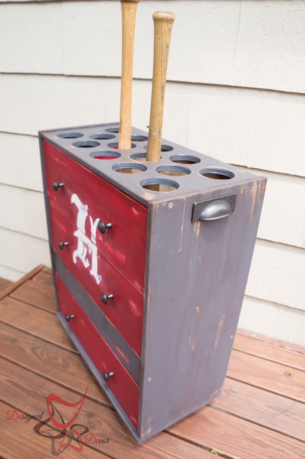 Ikea Rast Hack- Hickorey Hardware- Baseball Bat Holder- Pittsburgh Paints-14