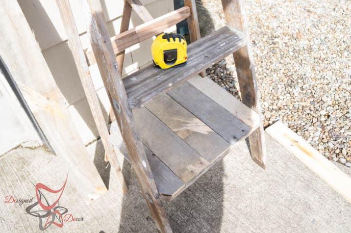 Repurposed Ladder Shelf-9