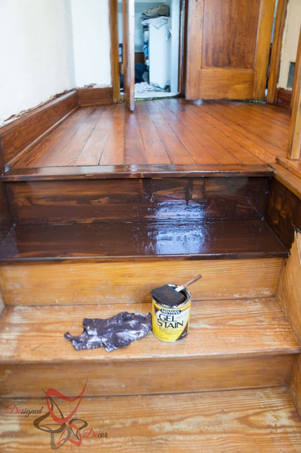 Using gel stain over existing stained wood designed decor for Gel stain