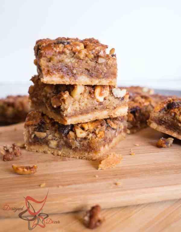 Gooey Mixed Nut Bars!