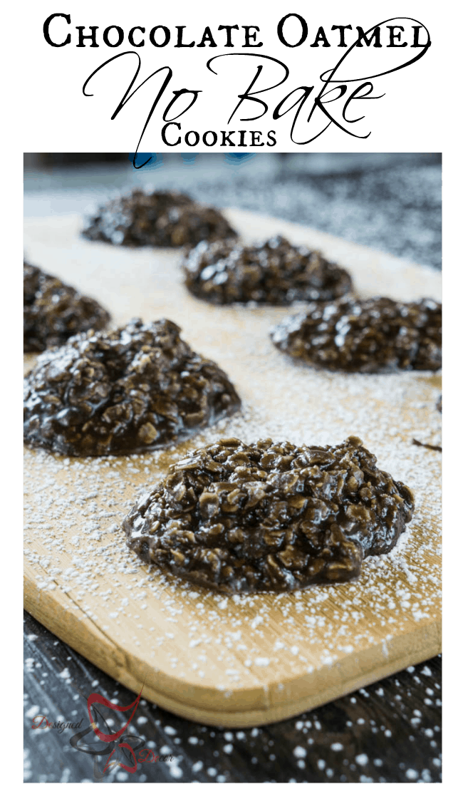 Chocolate Oatmeal No Bake Cookies
