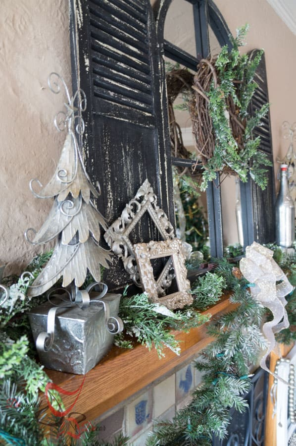 Decorating the Christmas Mantel - DIY- Christmas Decorating on a Budget- Staging a Mantel (30 of 33)