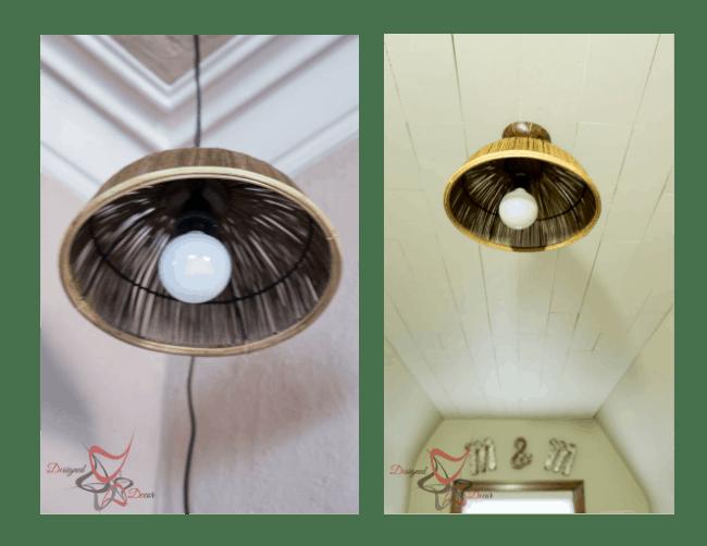 DIY Wicker Pendant lighting