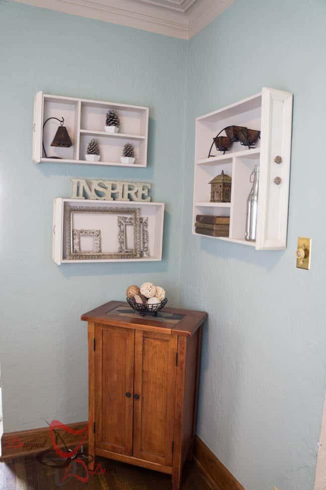 Wall Shelves - Repurposed Drawers-4