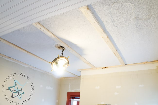 DIY Closet Makeover Beadboard Ceiling-Crown Molding-