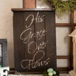 His Grace Over Flows - Repurposed Wood Wall Plaque (4 of 8)