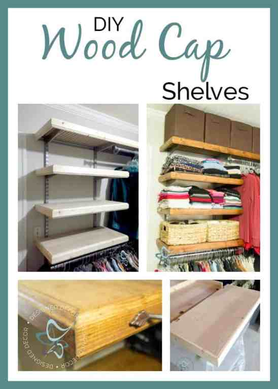 DIY Wood Cap Shelves!