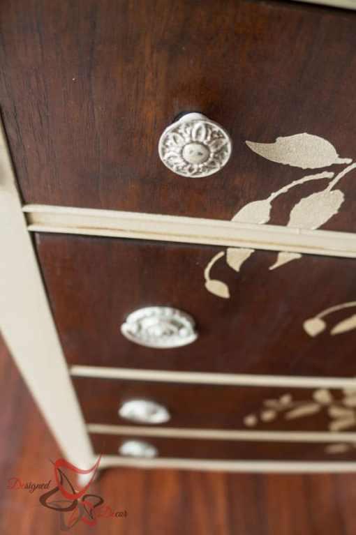 Stenciled Wood Dresser!