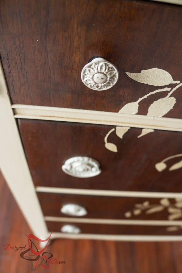 How to Stencil on wood - Dresser