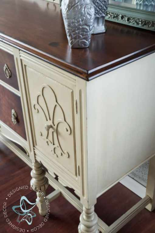 Painted Colonial Revival Dining Set and Buffet