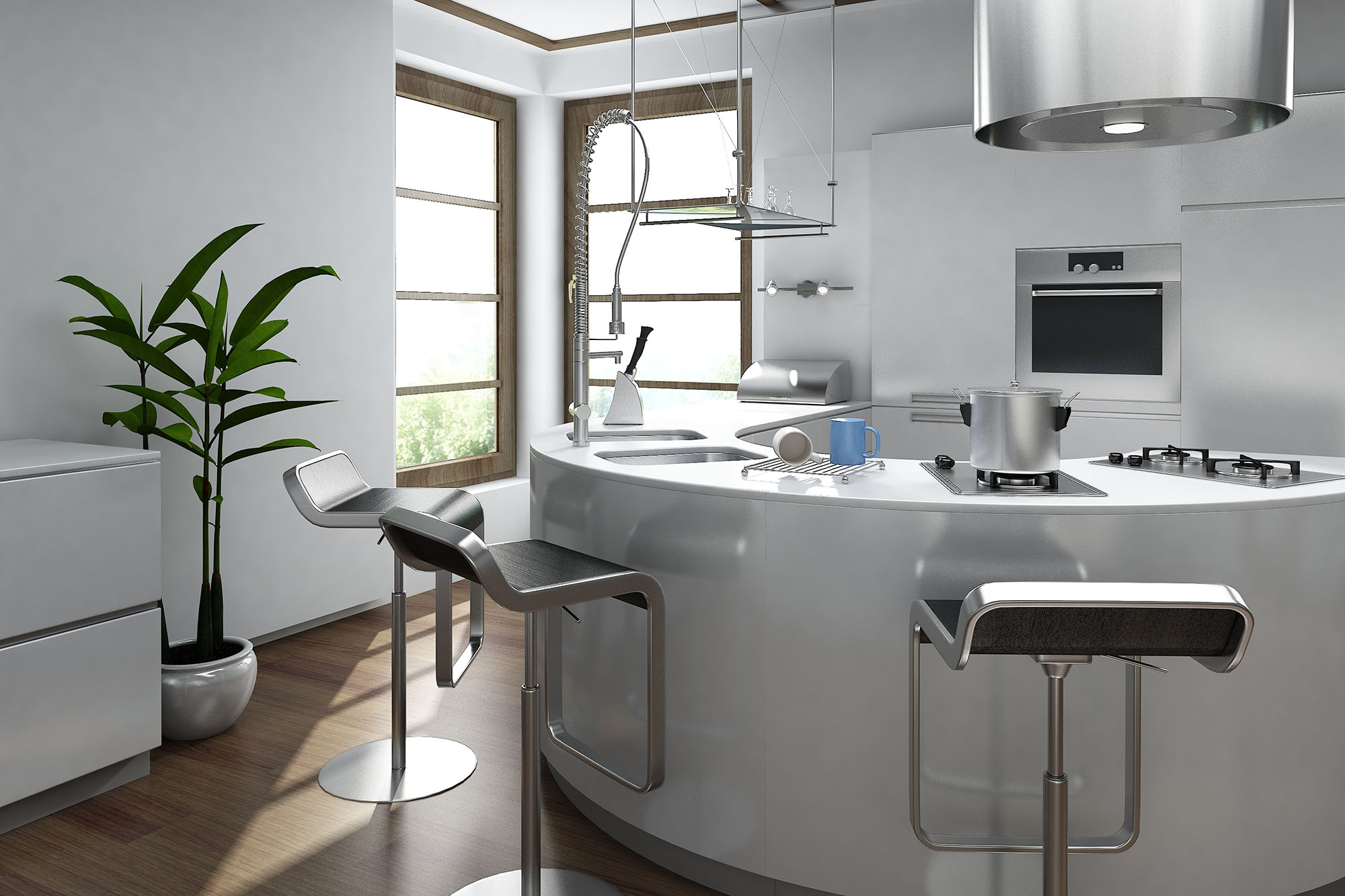 Kitchen Design With Round Island Round Kitchens