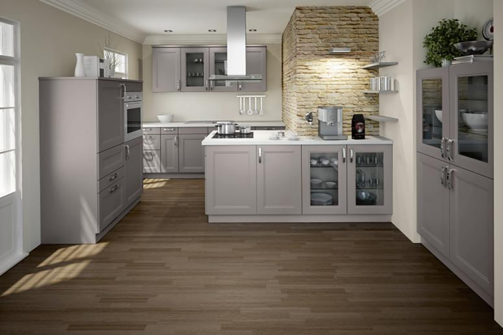 Light Grey Kitchen Walls With Dark Brown Cabinets Bauformat Kitchens - Premium Quality German Kitchens