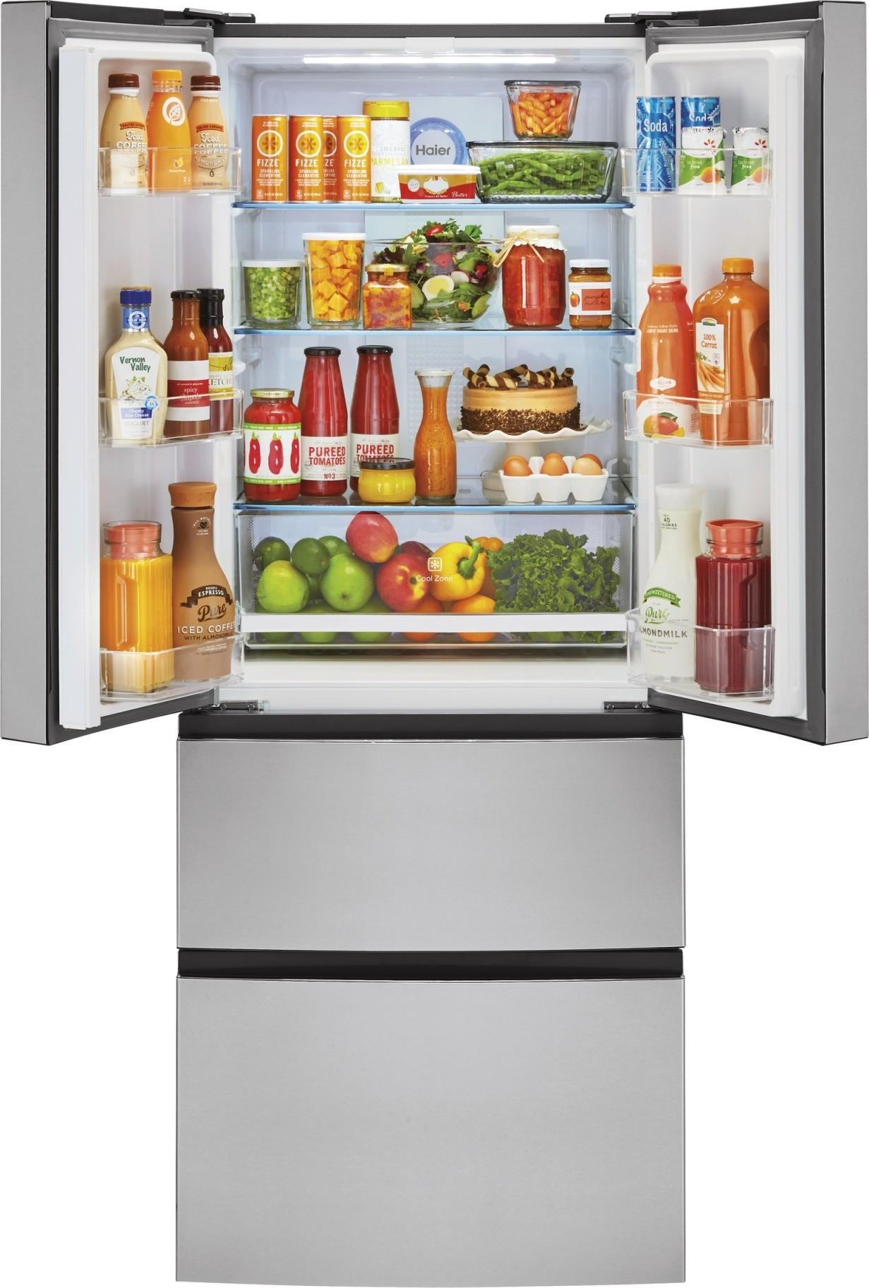 Kuche Bar Fridge Review Hrf15n3ags Haier 28 Quot 15 Cu Ft French Door Refrigerator
