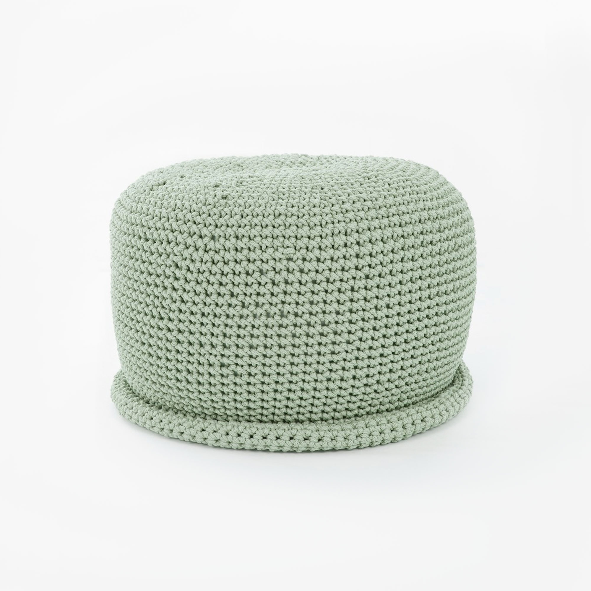 Pouf Mint Cap Crocheted Pouf Mint