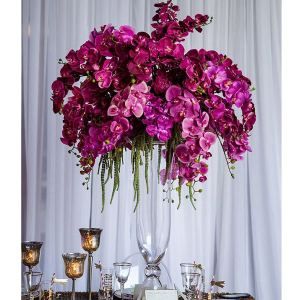 bell vase wedding orchid centrepiece