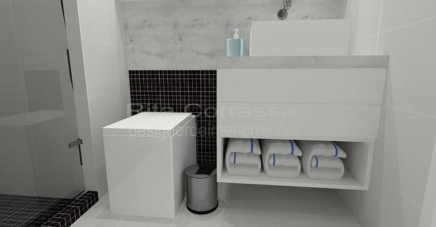 Projeto de banheiro com pastilhas pretas masculino -> Banheiro Com Pastilhas No Vaso