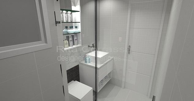 Projeto de banheiro com pastilhas pretas masculino -> Armario Para Banheiro Ribeirao Preto