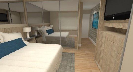 03 suite do casal com muitos armarios cor de madeira