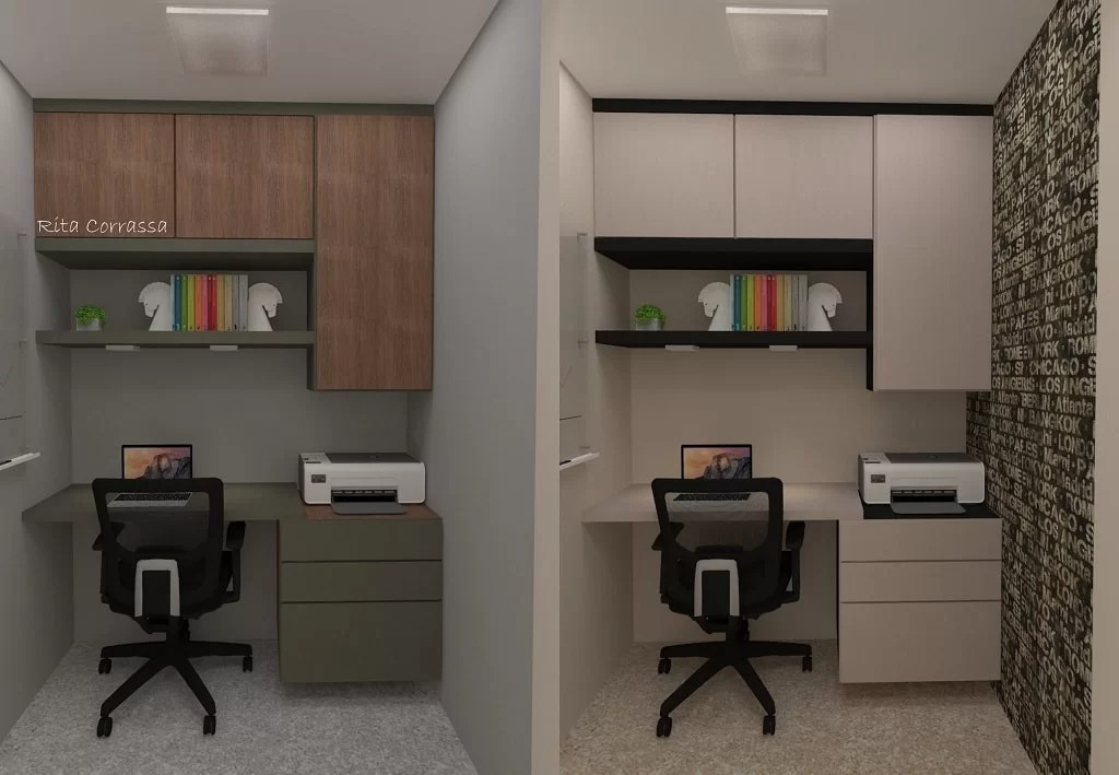 Mini Office Projeto De Mini Home Office No Local Do Lavabo - Designer