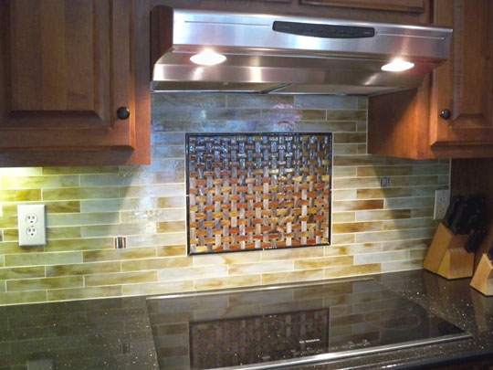 Granite Kitchen Island Pictures Stained Glass Mosaic Tile Kitchen Backsplash With Fused