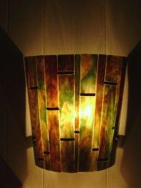 Bamboo Wall Sconce | Designer Glass Mosaics