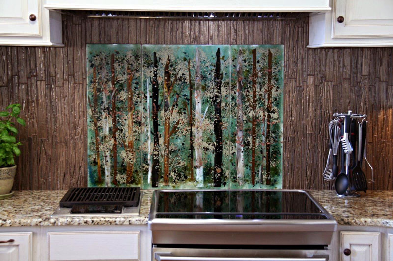 Bronze Kitchen Backsplash Murals Bronze Tin Backsplash