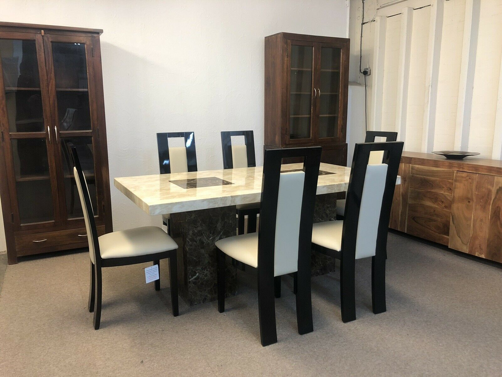 Dining Room Chairs Brisbane Brisbane Marble Table 180cm 6x Black Straightback Chairs Copy