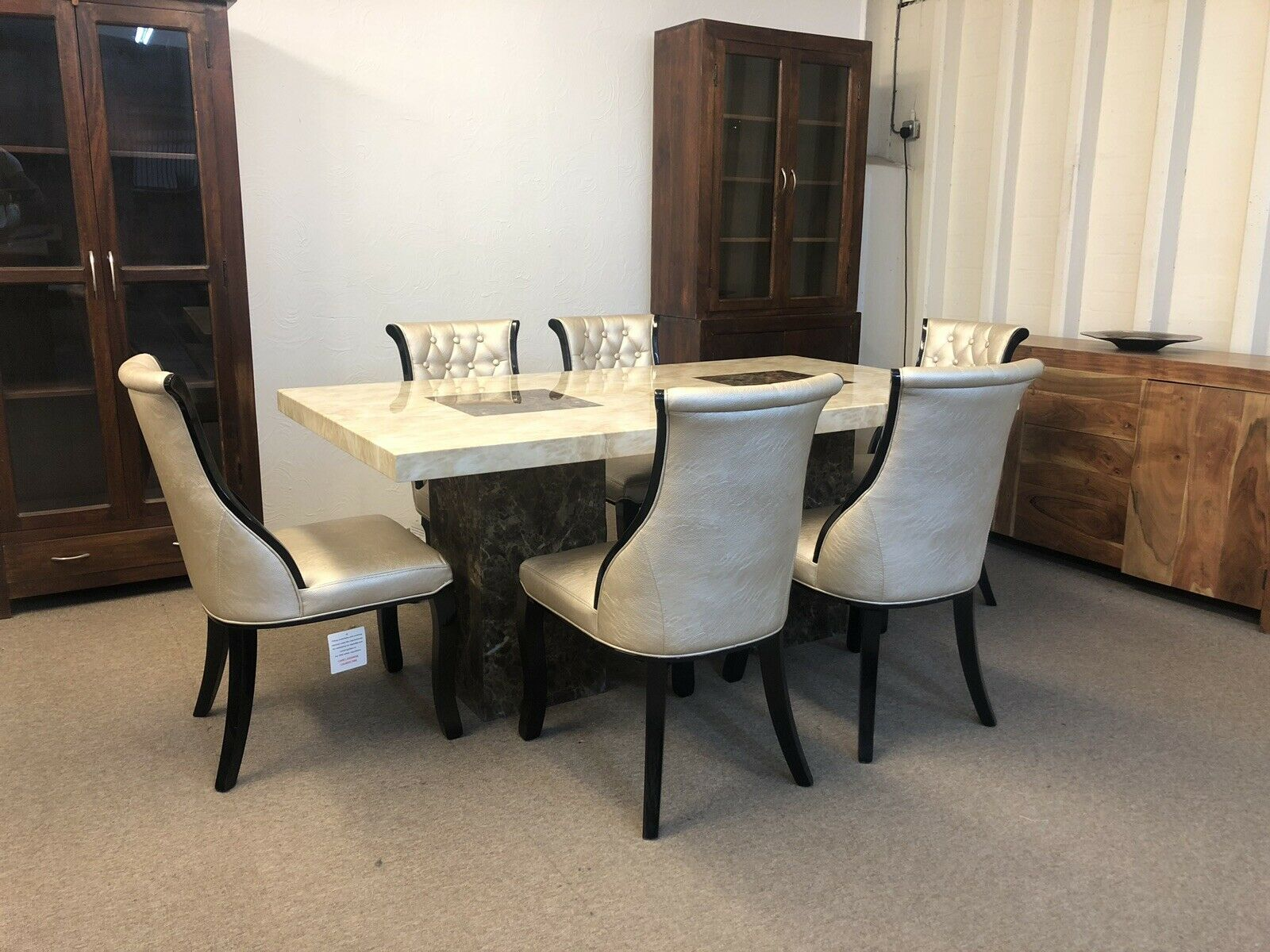 Dining Room Chairs Brisbane Brisbane Marble Table 180cm 6x Gold Curveback Chairs