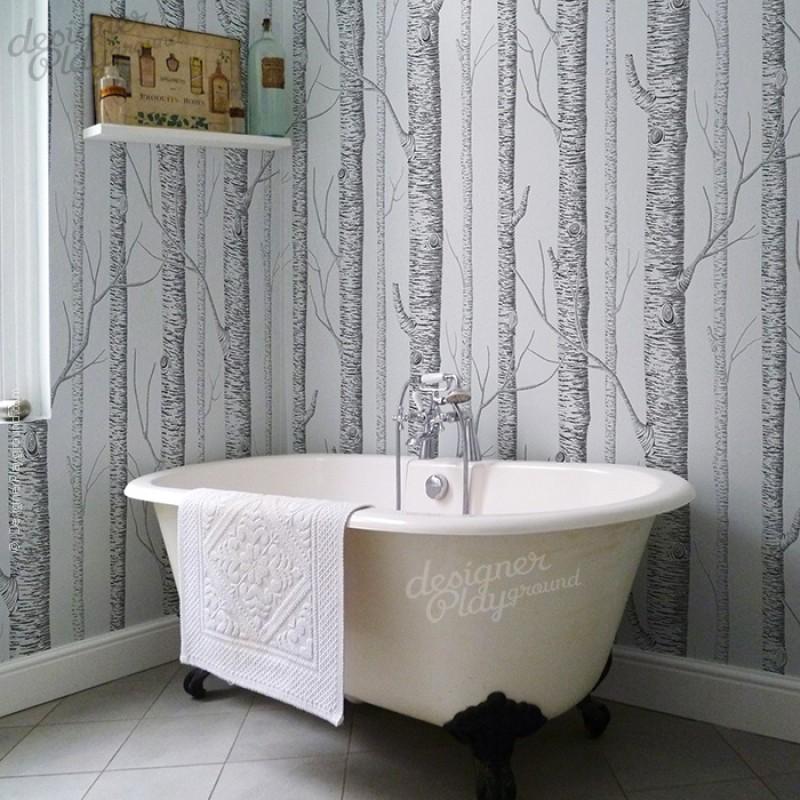 Animal Print Wallpaper For Walls Birch Trees Wallpaper Peel And Stick