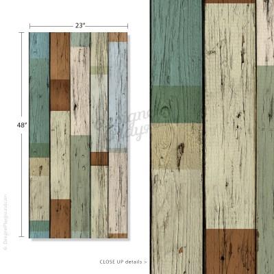 Removable Scrap Wood Wallpaper - Peel & Stick
