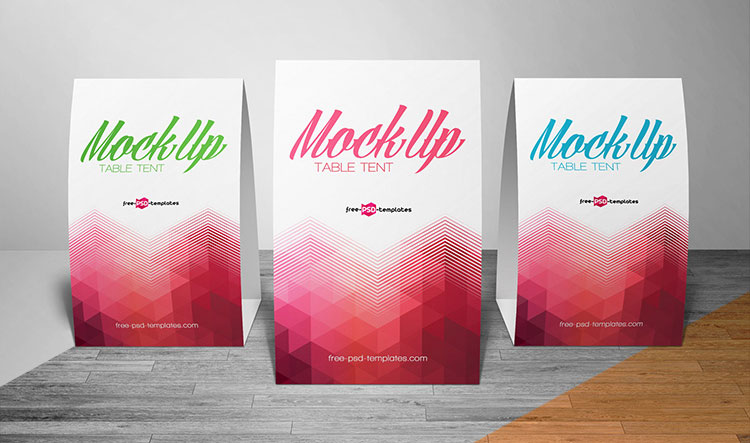 Umbrella Photoshop Mockup Free 8 Attractive Table Tent Card Mockup Psd Resources