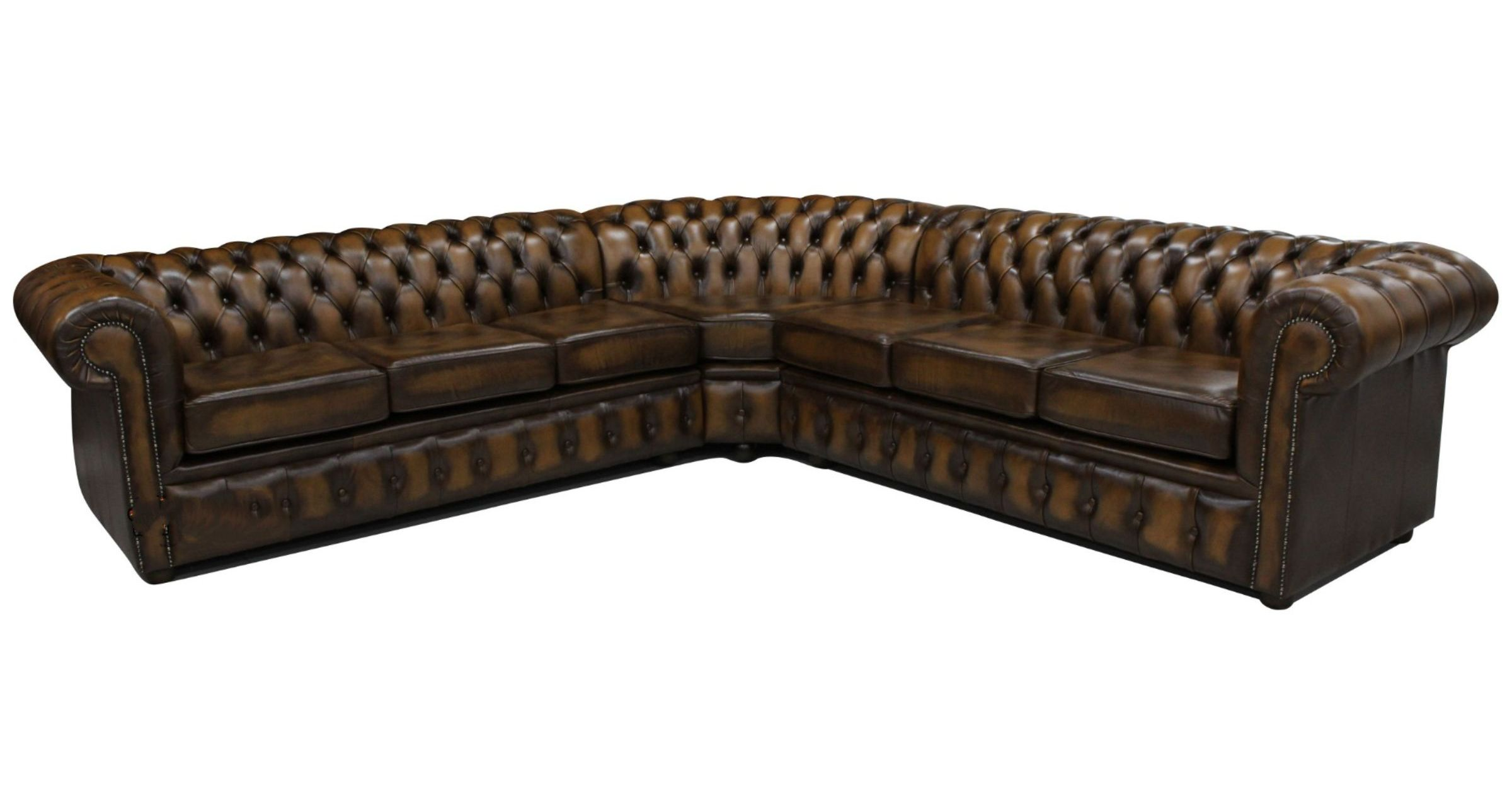 4 Seater Chesterfield Corner Sofa Chesterfield Corner Sofa Unit 6 Seater Antique Brown