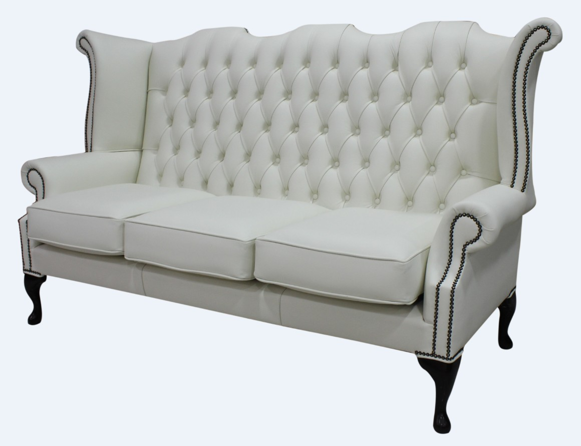 Sofa Queen Anne Chesterfield 3 Seater Queen Anne Wing Sofa Designersofas4u