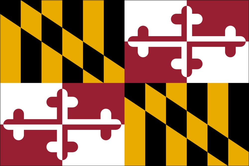 FREE Printable Maryland State Flag  color book pages 8½ x 11