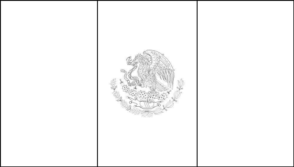 FREE Printable Mexico Flag  color book pages 8½ x 11