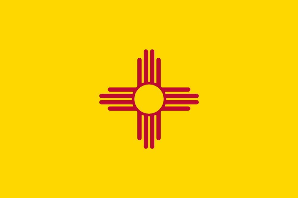 FREE Printable New Mexico State Flag  color book pages 8½ x 11