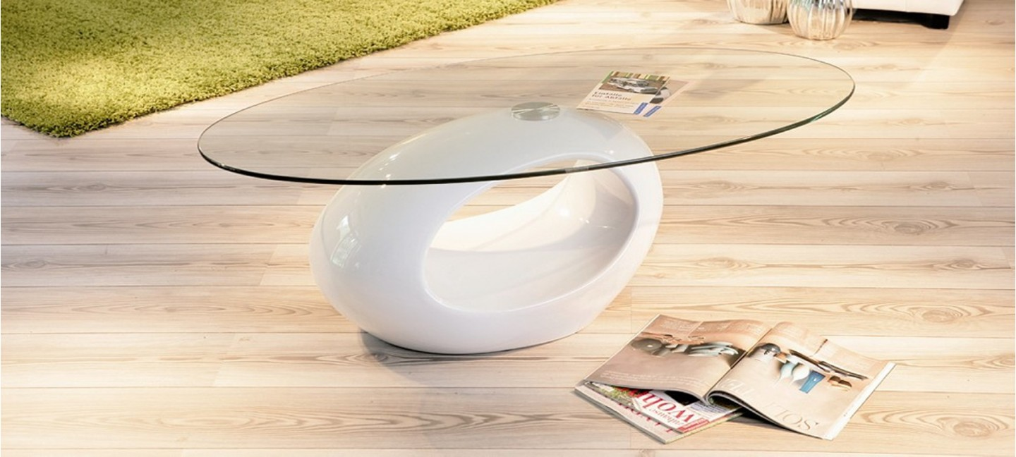 Table Basse Blanche Design Table Basse Design Ronde Blanche Symbiose